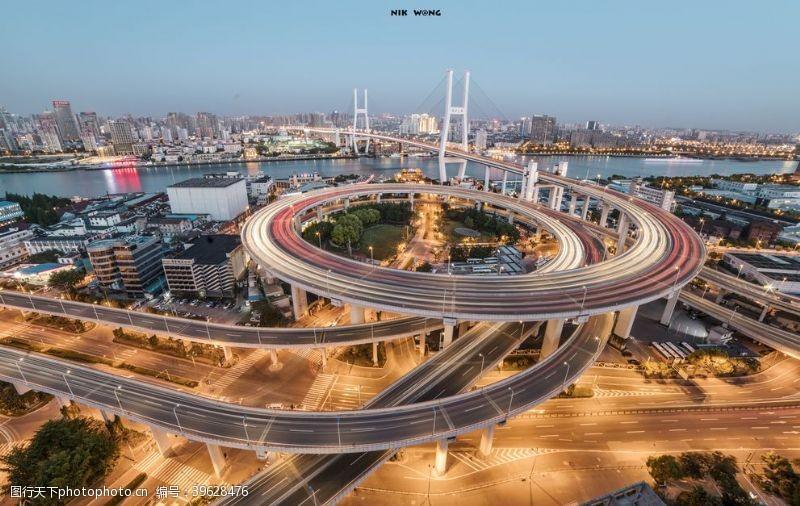 立交桥上海城市交通图片