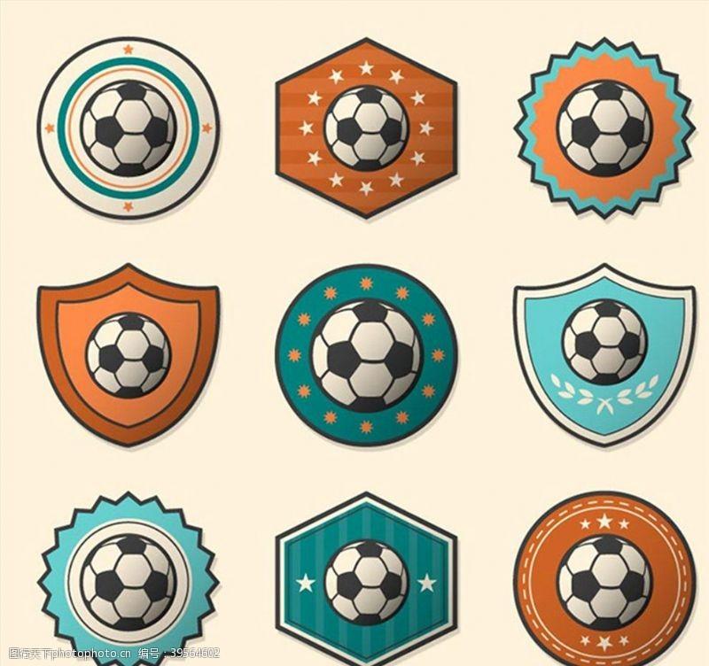 体育项目时尚足球标签图片