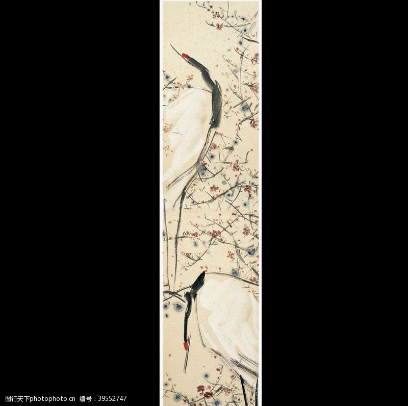 山水字画中国风水墨画图片