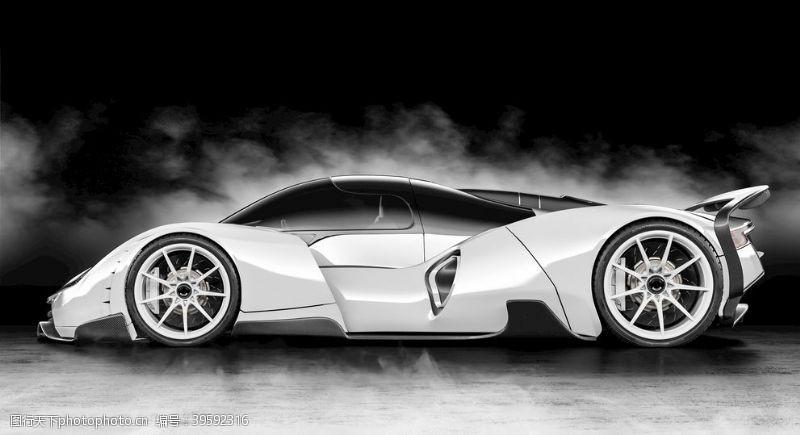 白色跑车白色汽车图片