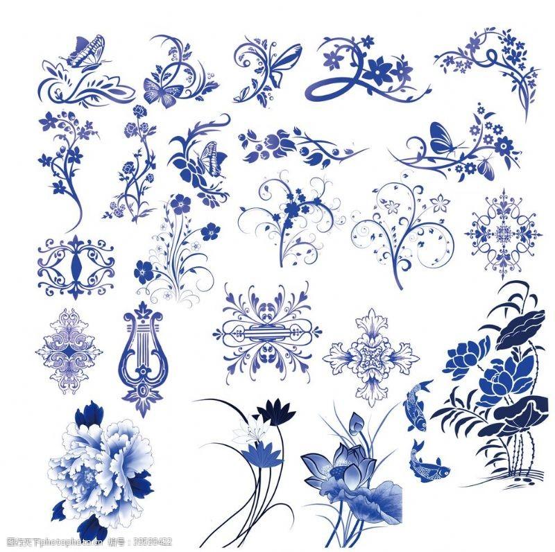 青花瓷素材青花瓷花纹图片