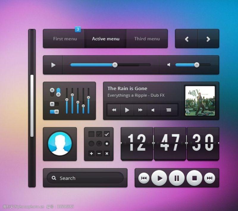 网站ui界面UI按钮界面图片