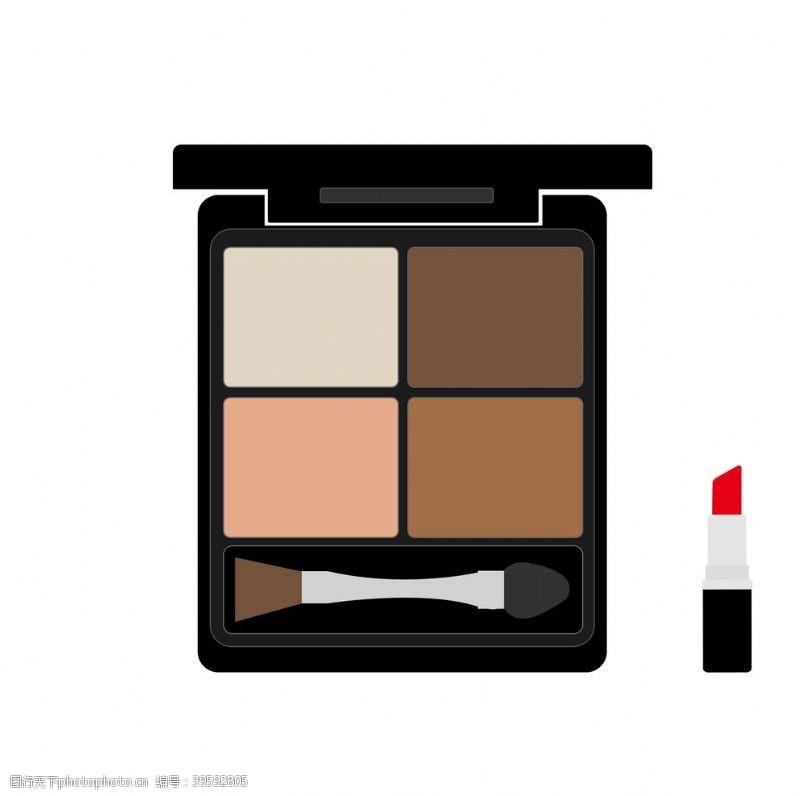 女性用品彩妆组合元素图片
