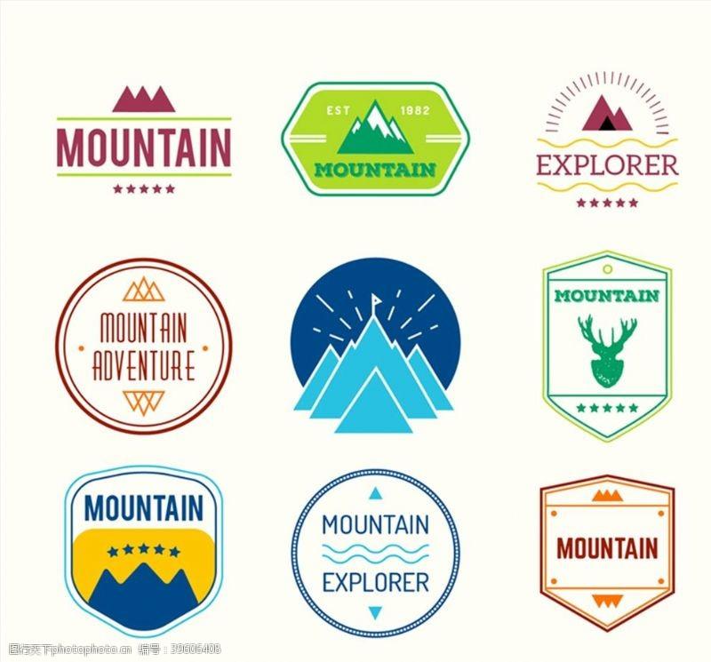 登山运动标签图片