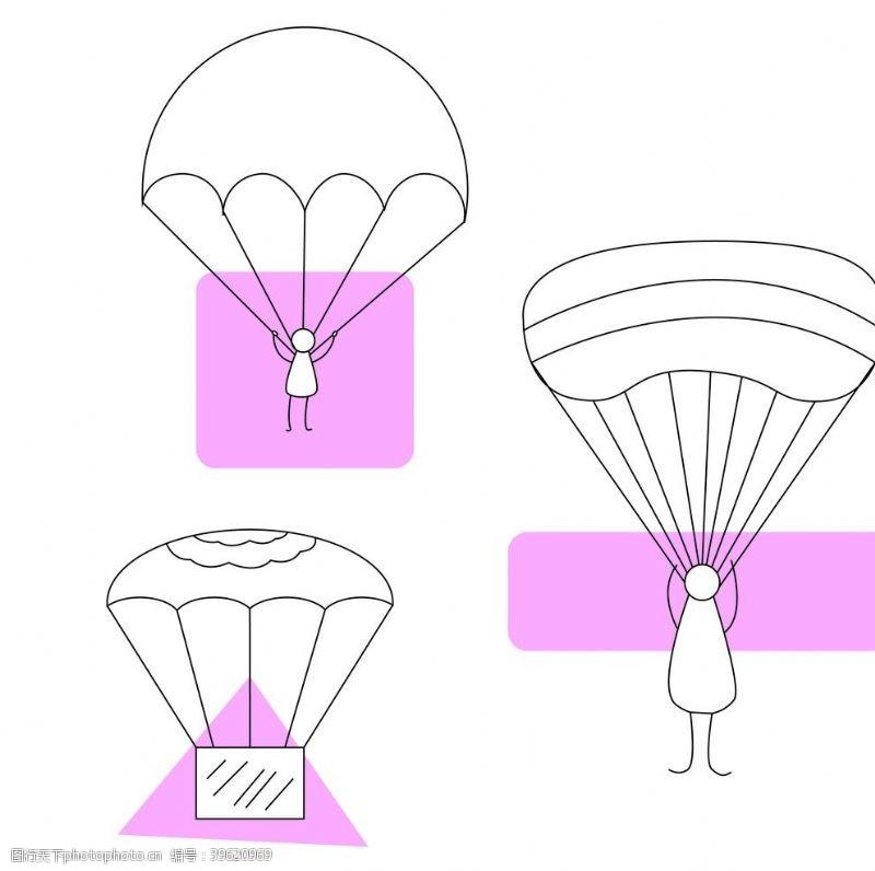 降落伞图片