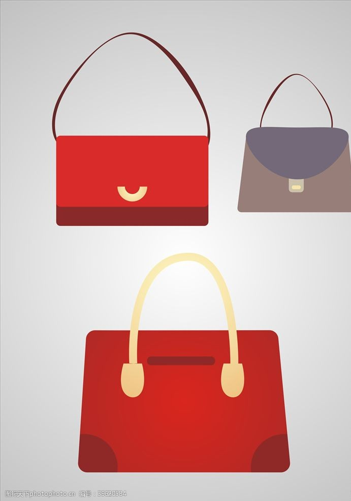 高跟鞋女士包包元素设计图片