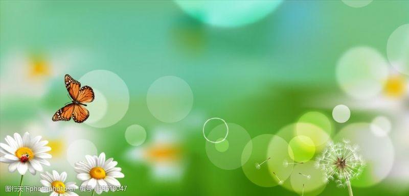 绿色清新背景清新唯美背景图片