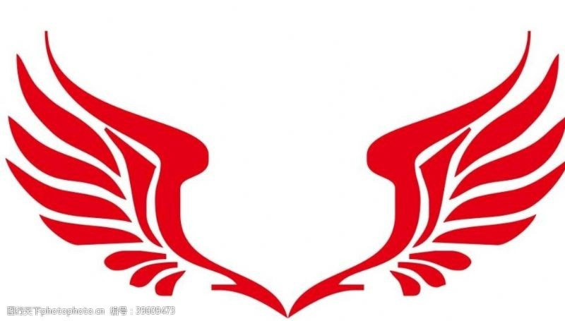 雄鹰矢量翅膀图片