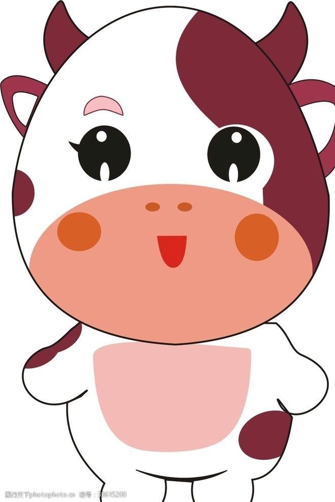 卡通奶牛图片