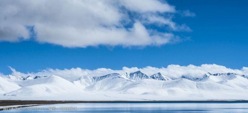 温度云冷湖风景山图片