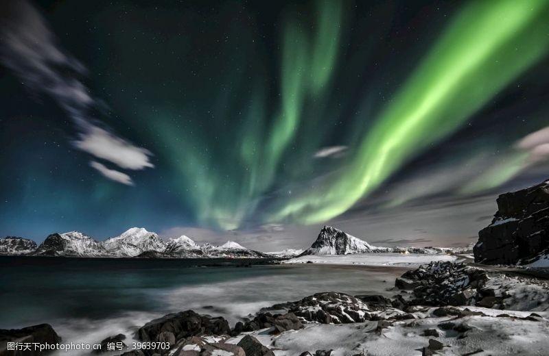 温度北极极光北极光背景图片