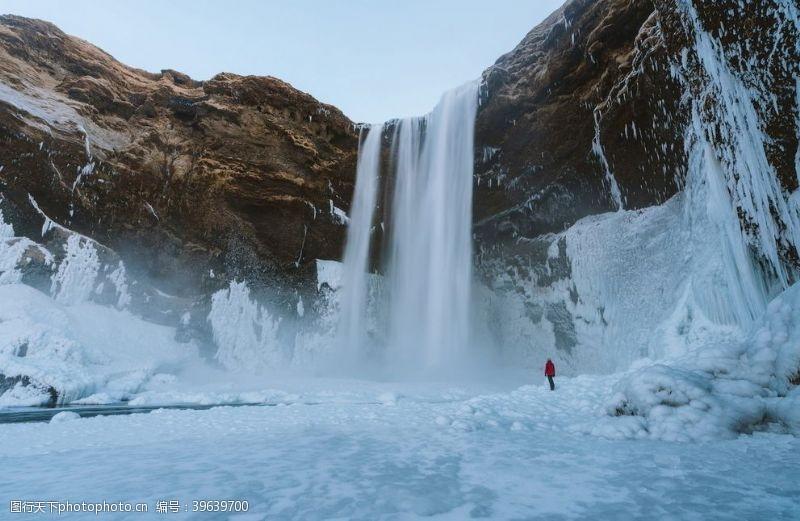 温度雪地冒险北极悬崖冷图片