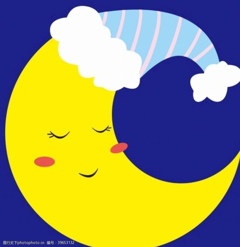 卡通月亮月亮上图片