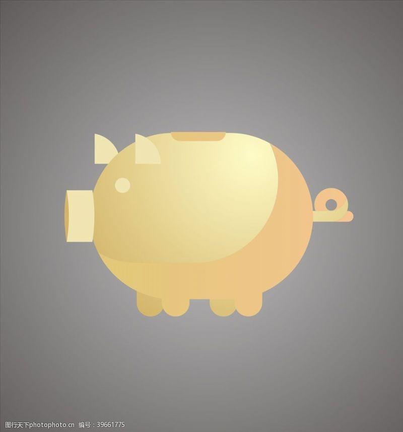 金猪存钱罐图片