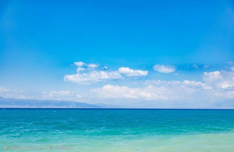 蓝色大海海天一色高清大图图片