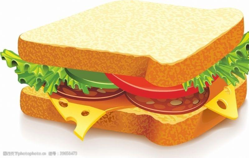 矢量食物三明治矢量图片