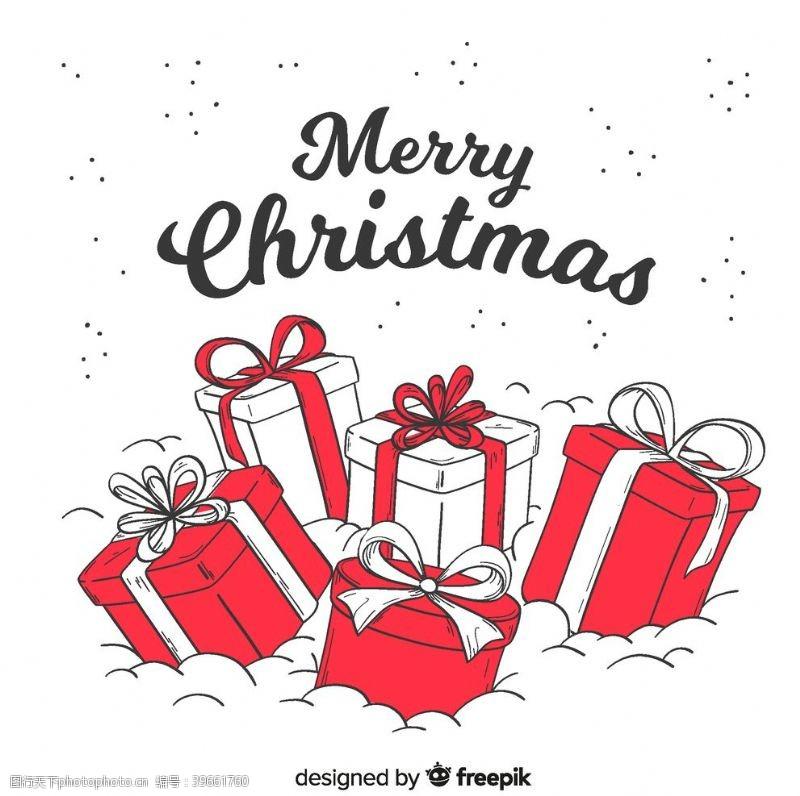 手绘图标圣诞节日礼物图片