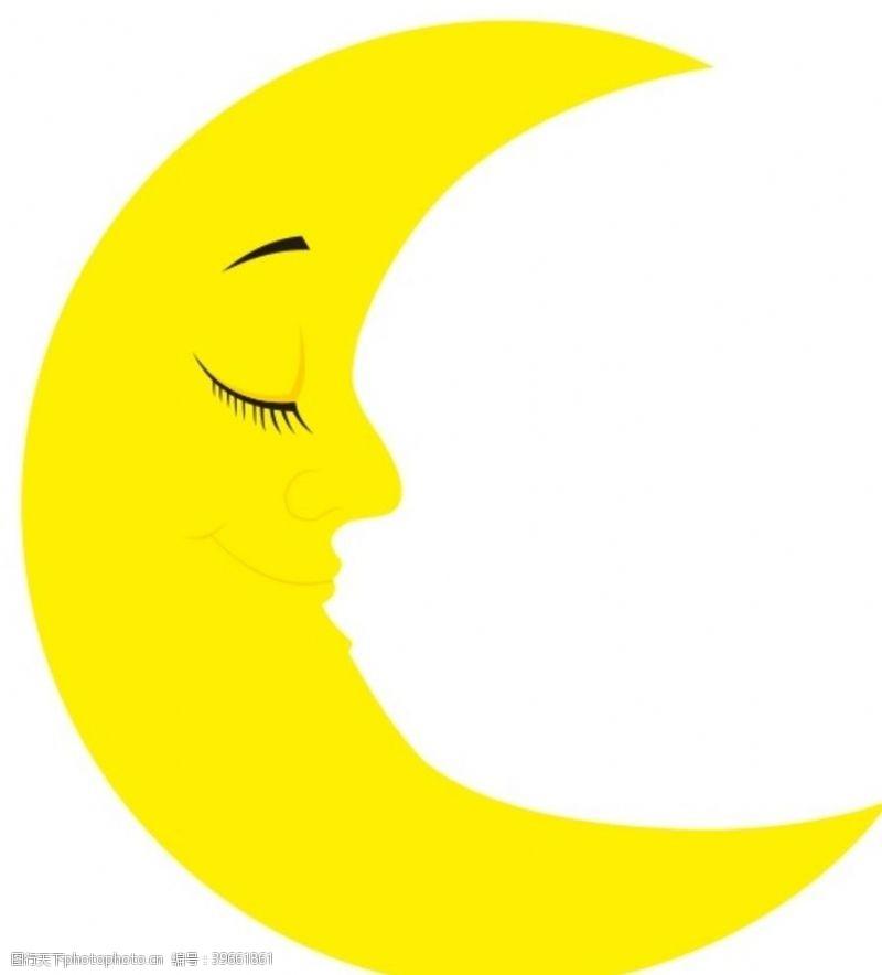 卡通月亮月亮上贰图片