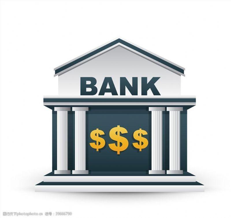 美元符号银行建筑图片