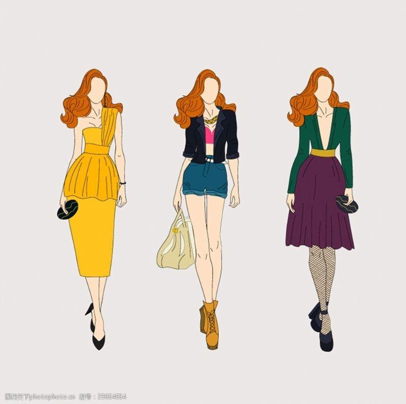 时尚模特时尚时装女郎图片
