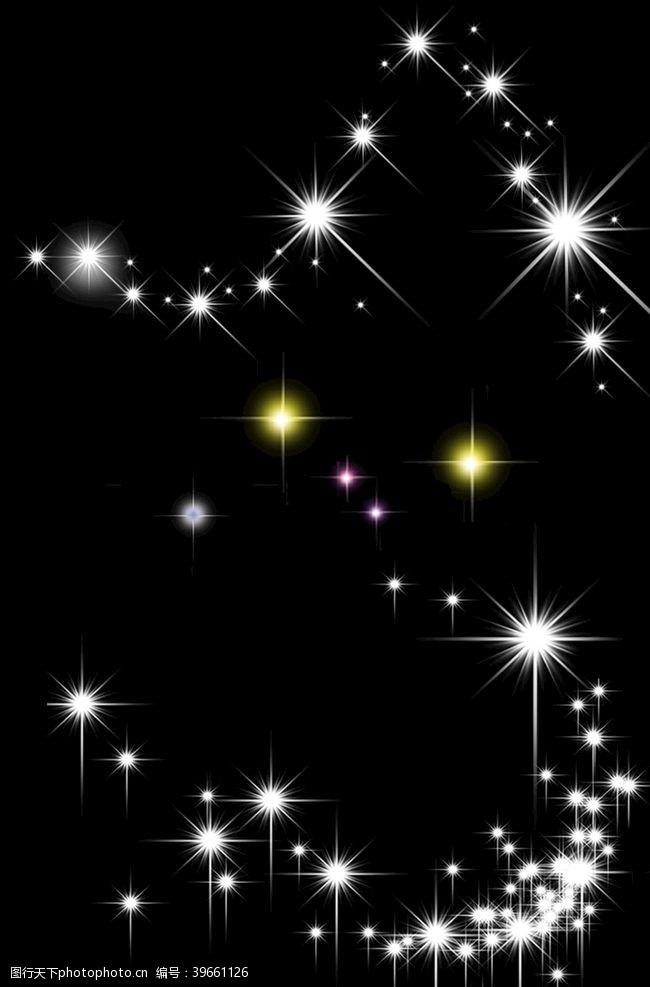白色光线星光图片