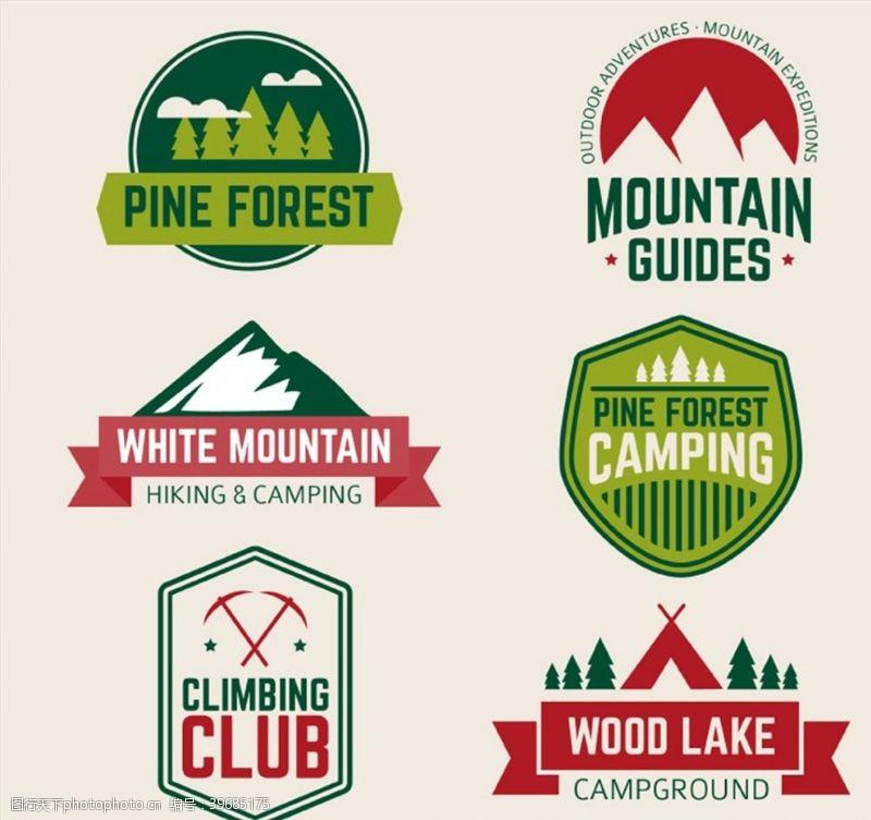 户外登山运动标签图片