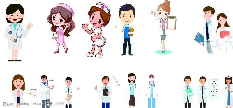 卡通护士卡通医生护士图片
