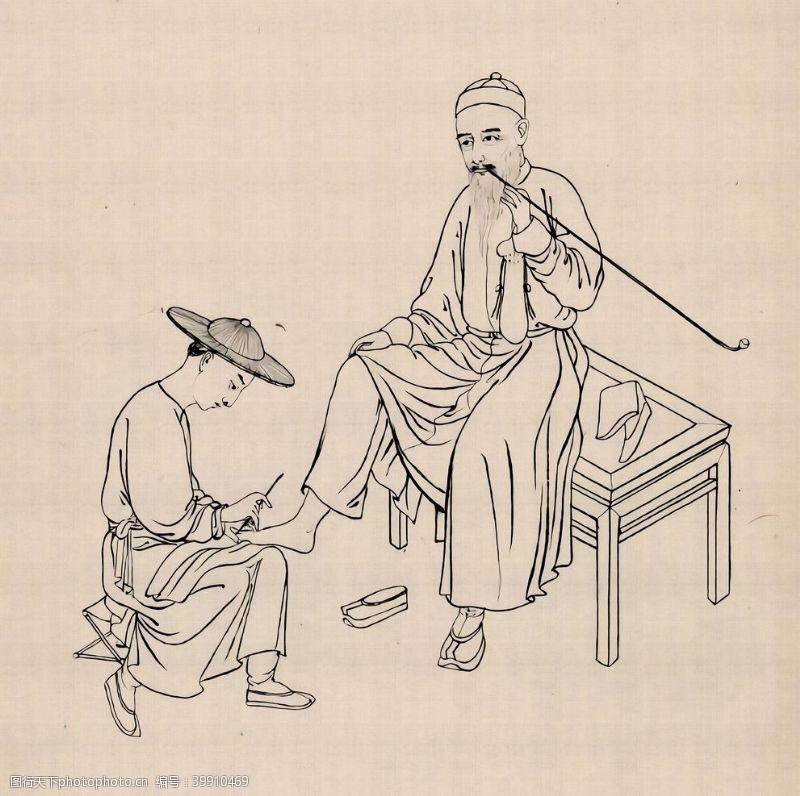 手绘背景三十六行手绘插画图片