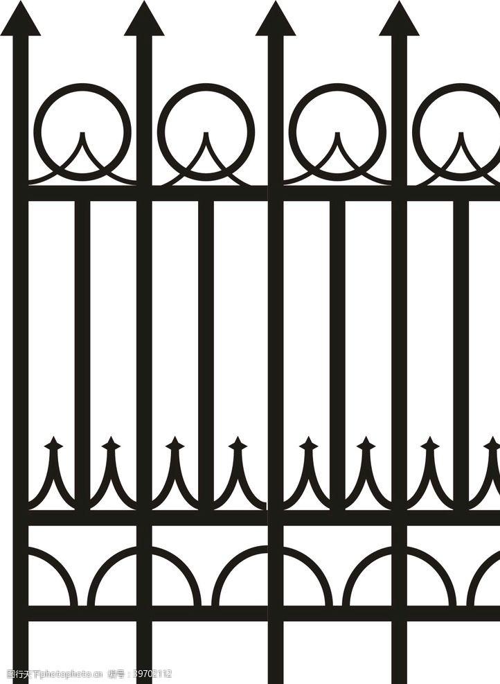 铁艺围墙铁艺护栏栏杆图片