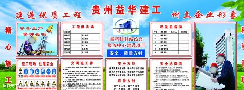 工地宣传贵州益华建工图片