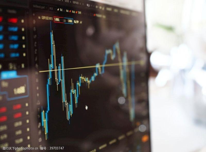 公司业务股市监控模糊图表数据图片