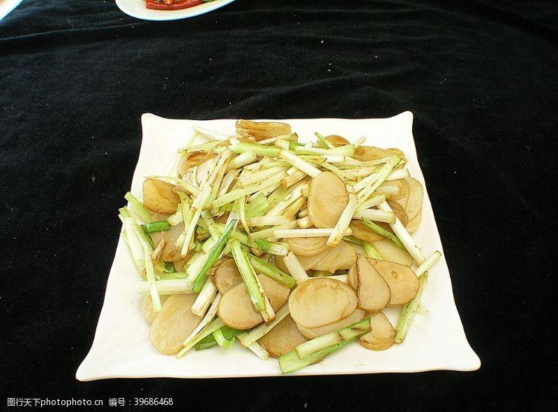 家常菜韭菜炒年糕图片