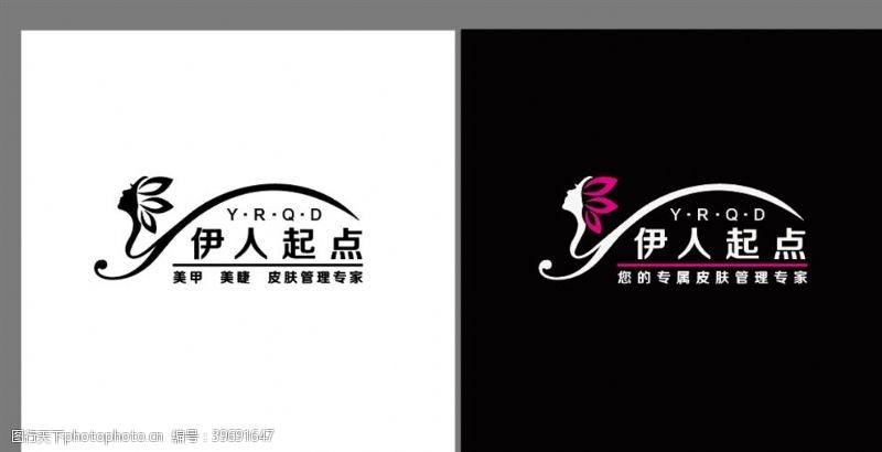 美容素材美容美甲logo图片