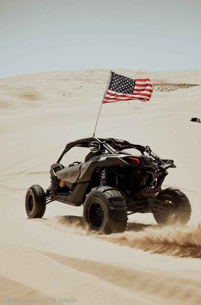 星条旗沙漠越野车图片