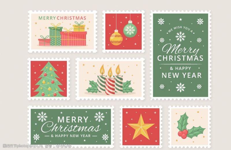 圣诞节邮票套装图片