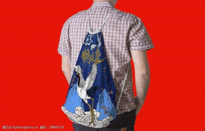 环保袋双肩包背包样机图片
