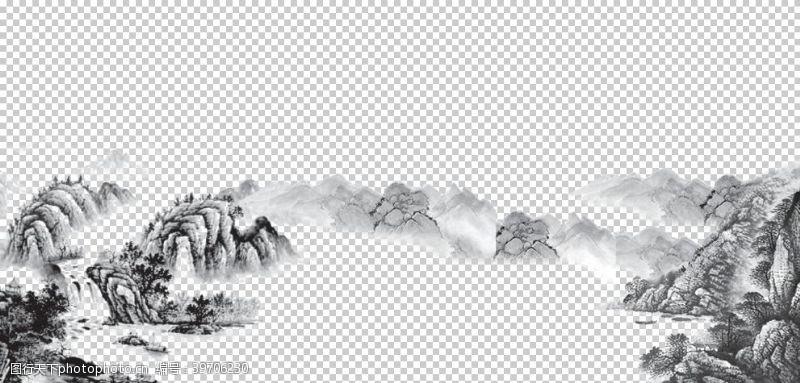 水墨山峰水墨山脉山峰图片
