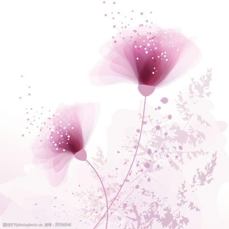 北欧简约植物花朵元素图片