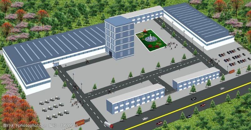 规划图工厂鸟瞰图图片