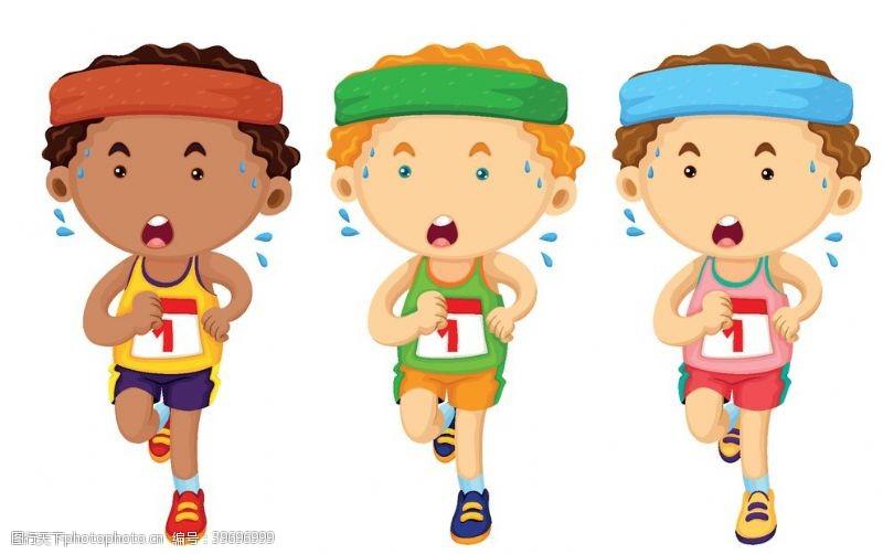 体育项目卡通运动员图片