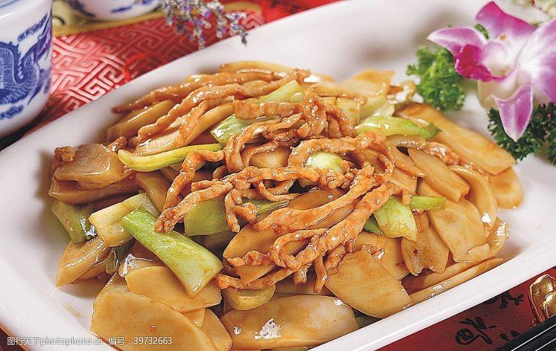 豫菜肉丝炒年糕图片