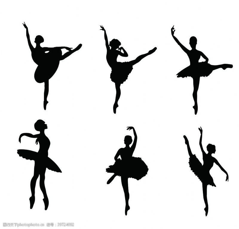 跳舞剪影芭蕾图片