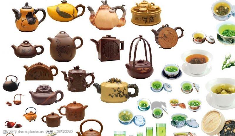 茶壶素材茶壶茶杯图片