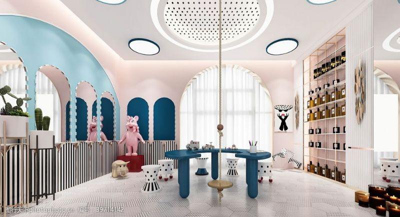 设计色彩美容院效果图图片