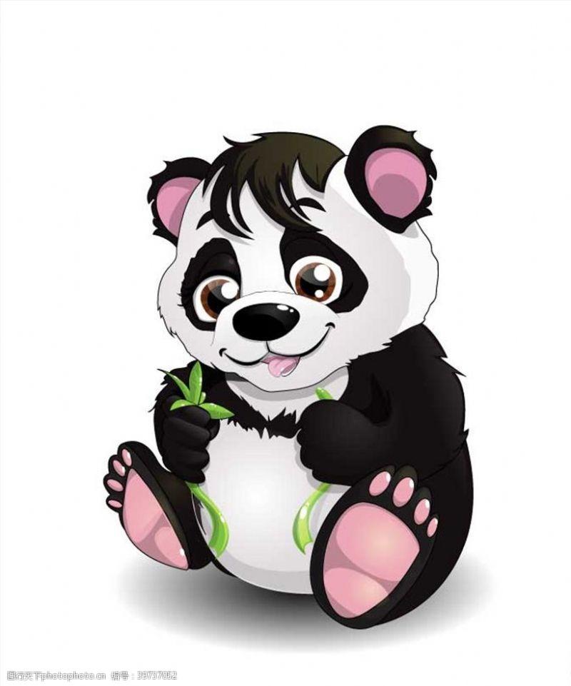 手绘动物熊猫图片