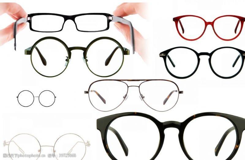 镜片眼镜图片
