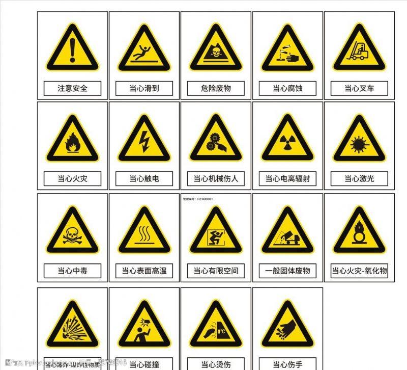 高温标识牌当心图片