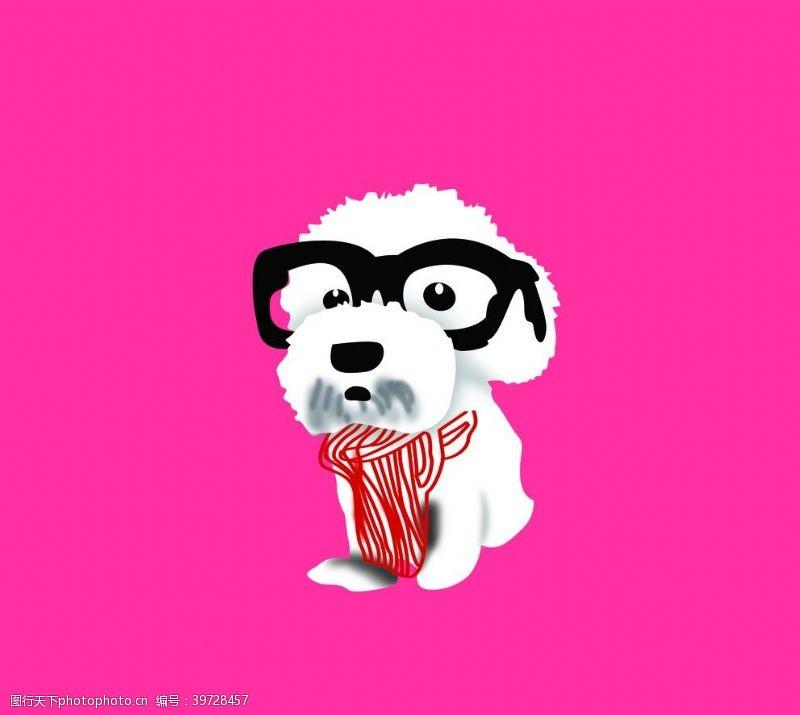 眼镜狗狗图片