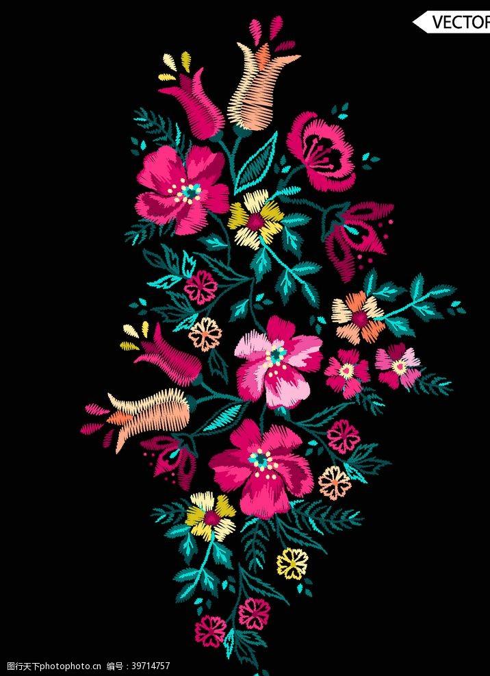 花卉苏式刺绣图片