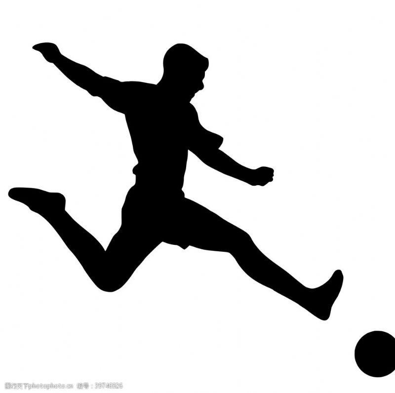 播放轮廓足球运动员图片